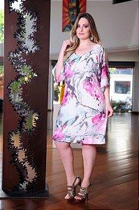 Vestido Cassia Segeti Chiffon Plus Size Moda Evangélica