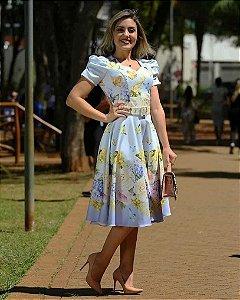 Vestido Midi Dress Lilás Moda Evangélica