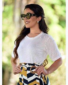Blusa Lorens Pedrinhas Moda Evangélica