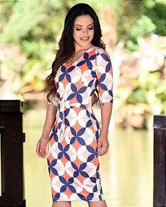 Vestido Tubinho com Amarração Moda Evangélica