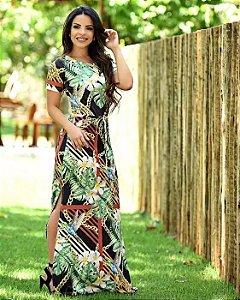 63573e740 Vestido Longo - Moda Evangélica - Flor de Amêndoa
