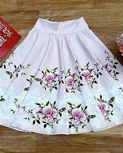 Saia Godê Floral Moda Evangélica