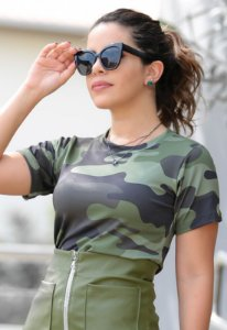 Blusa Feminina Estampa Militar