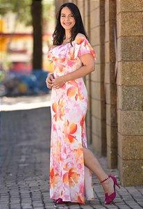 Vestido Longo Ciganinha Suplex Floral