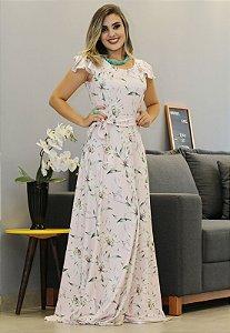 Vestido Floral Suplex com Manguinha