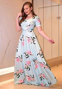 Vestido Longo Decote Princesa
