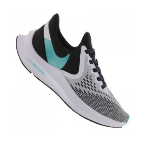 Tênis Nike Zoom Winflo 6 - Feminino - Cinza Claro e Preto