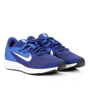 Tênis Nike Downshifter 9 GS - Azul e Marinho