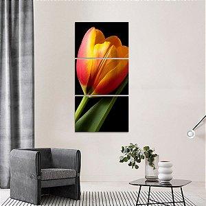 Quadro Grande Tulipa Artístico Flores Conjunto Vertical