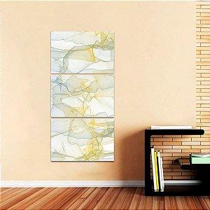 Conjunto 3 Peças Quadro Abstrato Moderno Design Vertical