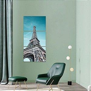Quadro decorativo Conjunto Vertical Torre Eiffel Paris