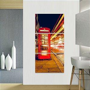 Quadro decorativo Conjunto Vertical Telefone Luzes Londres