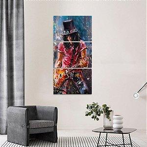 Quadro Guns N Roses Slash Artístico Rock Mosaico Vertical