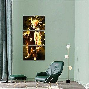 Quadro Naruto Uzumaki Mosaico Vertical decorativo