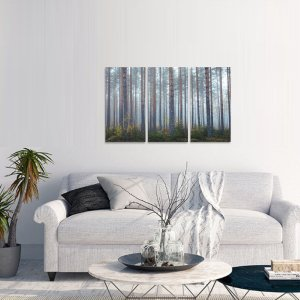 Kit 3 Peças Árvores Floresta Natureza decorativo