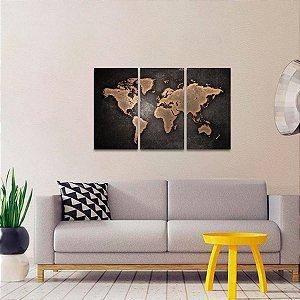Quadro decorativo Mapa Mundi Interiores Estilo Vintage