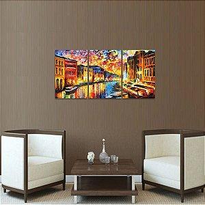 Quadro Grand Canal Veneza Abstrato Moderno  decorativo