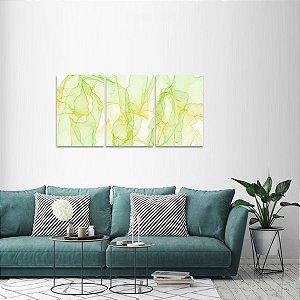 Quadro decorativo Mosaico Abstrato Design em 3 Peças