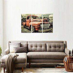 Quadro Antigo Truck Ford Decorativo Vintage Mosaico