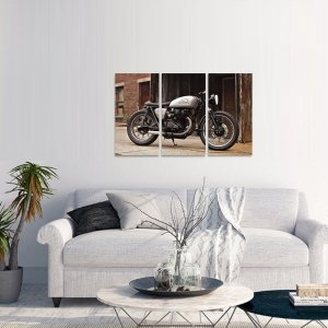 Quadro Mosaico Motos Honda Conjunto 3 Telas