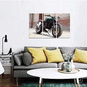 Conjunto 3 Telas Quadro Motos Ducati decorativo