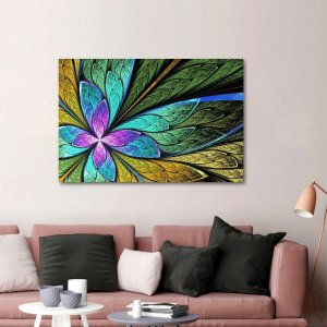 Quadro Abstrato Colors Flor ou Borboleta decorativo