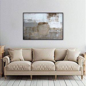 Quadro Abstrato Artístico Marrom de Cinza decorativo