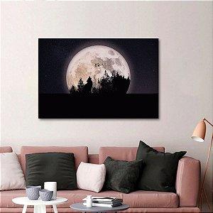 Quadro Artístico O Uivo do Lobo na Lua Cheia