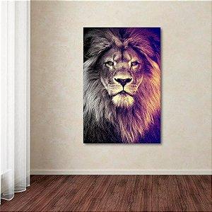 Quadro decorativo Leão Moderno Arte The King