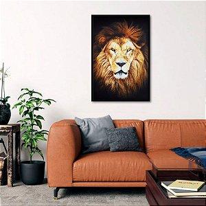 Quadro O Leão Cor Sépia Arte decorativo