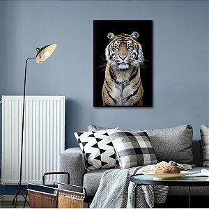 Quadro Tigre O Predador Arte Animais decorativo