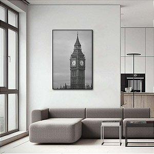 Quadro London Fantastic Big Ben Preto e Branco Vertical