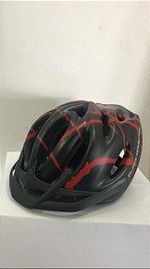 Capacete de Ciclismo WINNER BM Preto/Vermelho