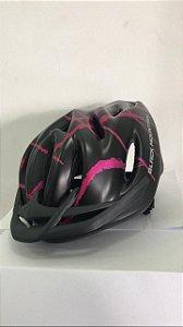 Capacete de Ciclismo WINNER BM Preto/Rosa com Apoio