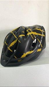 Capacete de Ciclismo WINNER BM Preto/Amarelo com Apoio
