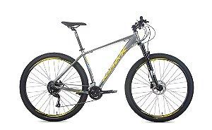 Bicicleta AUDAX Havok NX 9V Cinza/Branca - Tam - 17