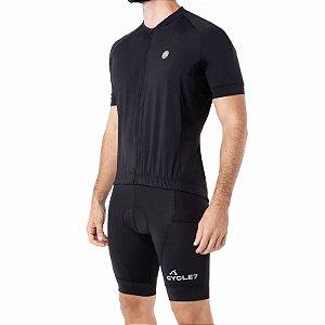 Camisa CYCLE Masculina ColorBlock Preto Tam. G