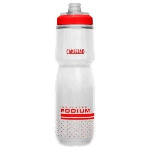 Garrafa CAMELBAK Podium Chill Branco/Vermelho - 710ML