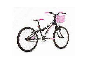 Bicicleta HOUSTON Nina Aro 20 Preta Fosco c/ Cesta Preta
