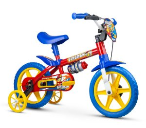 Bicicleta NATHOR FireMan Aro 12 Vermelho/Azul