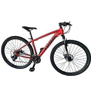 Bicicleta LOTUS Mec Aro 29 21V Vermelho/Preto - Tam. 17,5