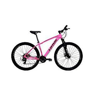 Bicicleta LOTUS Mec Aro 29 21V Rosa/Preto - Tam. 15,5