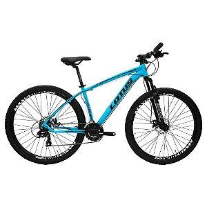 Bicicleta LOTUS Mec Aro 29 21V Azul/Preto - Tam. 17,5