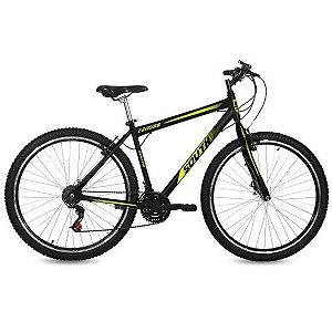 Bicicleta SOUTH Gross Aro 29 Aço Freio Vbrake 18 Marchas - Preto/Verde