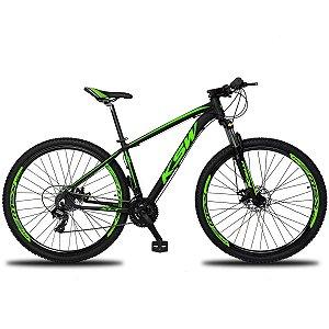 Bicicleta KSW XL 27V Preto/Verde - Tam. 17