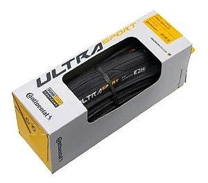 Pneu CONTINENTAL Ultra Sport III - 700x28 - Preto/Dobravel