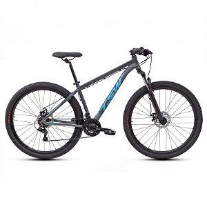 Bicicleta TSW Ride Aro 29 21V Cinza/Azul - Tam. 15.5
