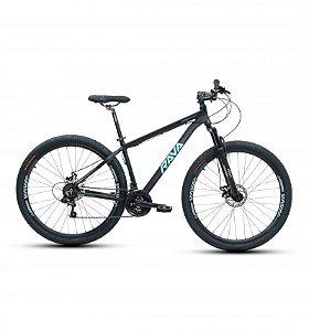 Bicicleta RAVA PRESSURE Aro 29 21V Preto/Azul - Tam. 15.5