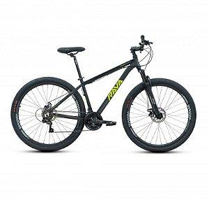 Bicicleta RAVA PRESSURE Aro 29 21V Preto/Verde - Tam. 17