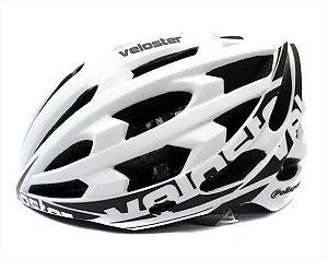 Capacete de Ciclismo POLISPORT Veloster Branco/Preto Tam. G